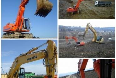 Închiriez excavatoare de 22 tone