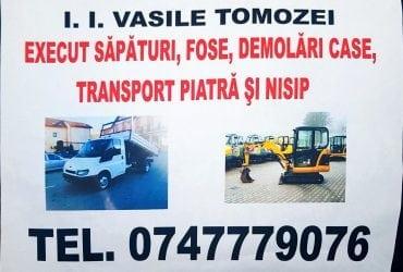 Servicii Sapaturi, Fose, Demolari, Transport