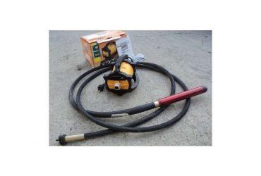 Vibrator beton DINGO ENAR cu ax flexibil de 4m si cap vibrare 58mm, tensiune de alimentare 220V