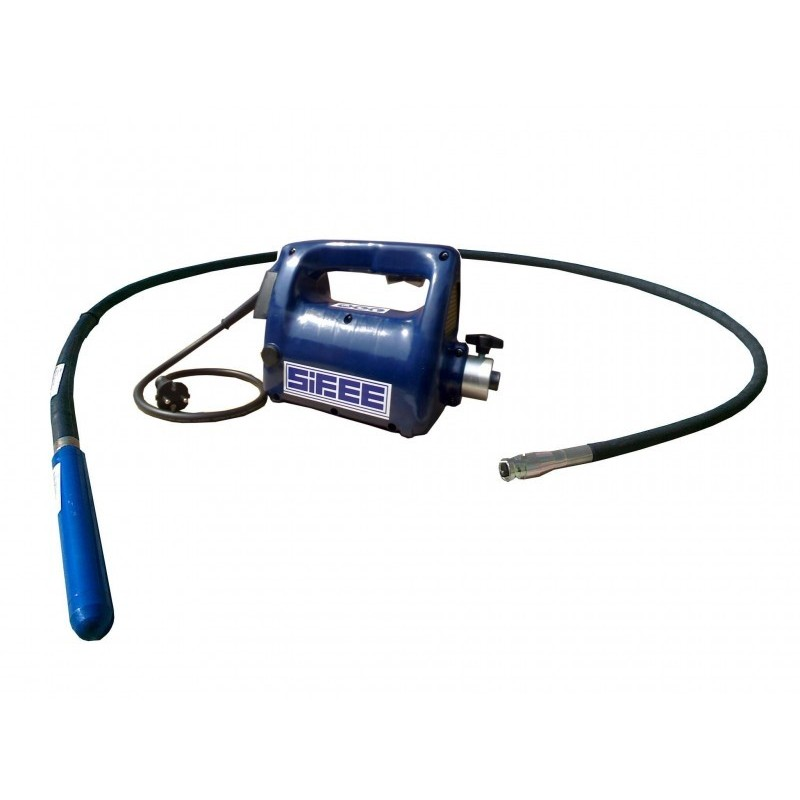 Vibrator beton SIFEE cu ax flexibil de 4m si cap vibrare 38 mm, tensiune de alimentare 230V